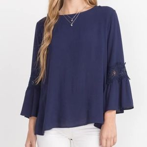 NWT - Navy Blue Top